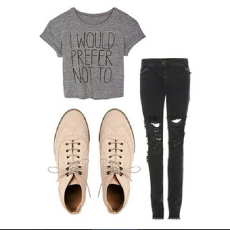 shoes oxfords cute ripped jeans black jeans skinny jeans lovely want shoes casual