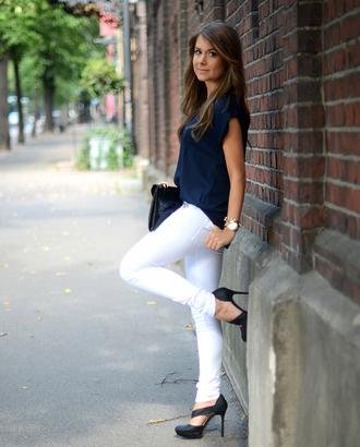 mariannan blouse jeans shoes bag