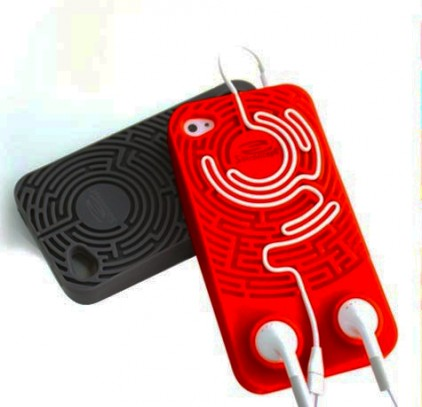 Wisdomaze Protective Silicone Case for iPhone 4 - 4s / With Built in Headphone Tidy Maze / Fun Gify Idea from Locomocean Ltd | Made By Locomocean Ltd | £9.99 | BOUF