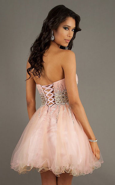 Sequins Badydoll Tulle Homecoming Dress Riva L970 [Tulle Party Dress by Riva L970] - $130.00 : Discover Unique Dresses Online at PromUnique.com