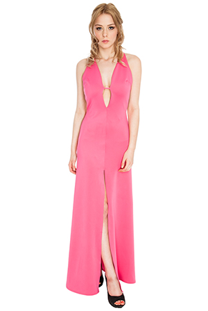 Backless Glam Maxi in the style of Rihanna