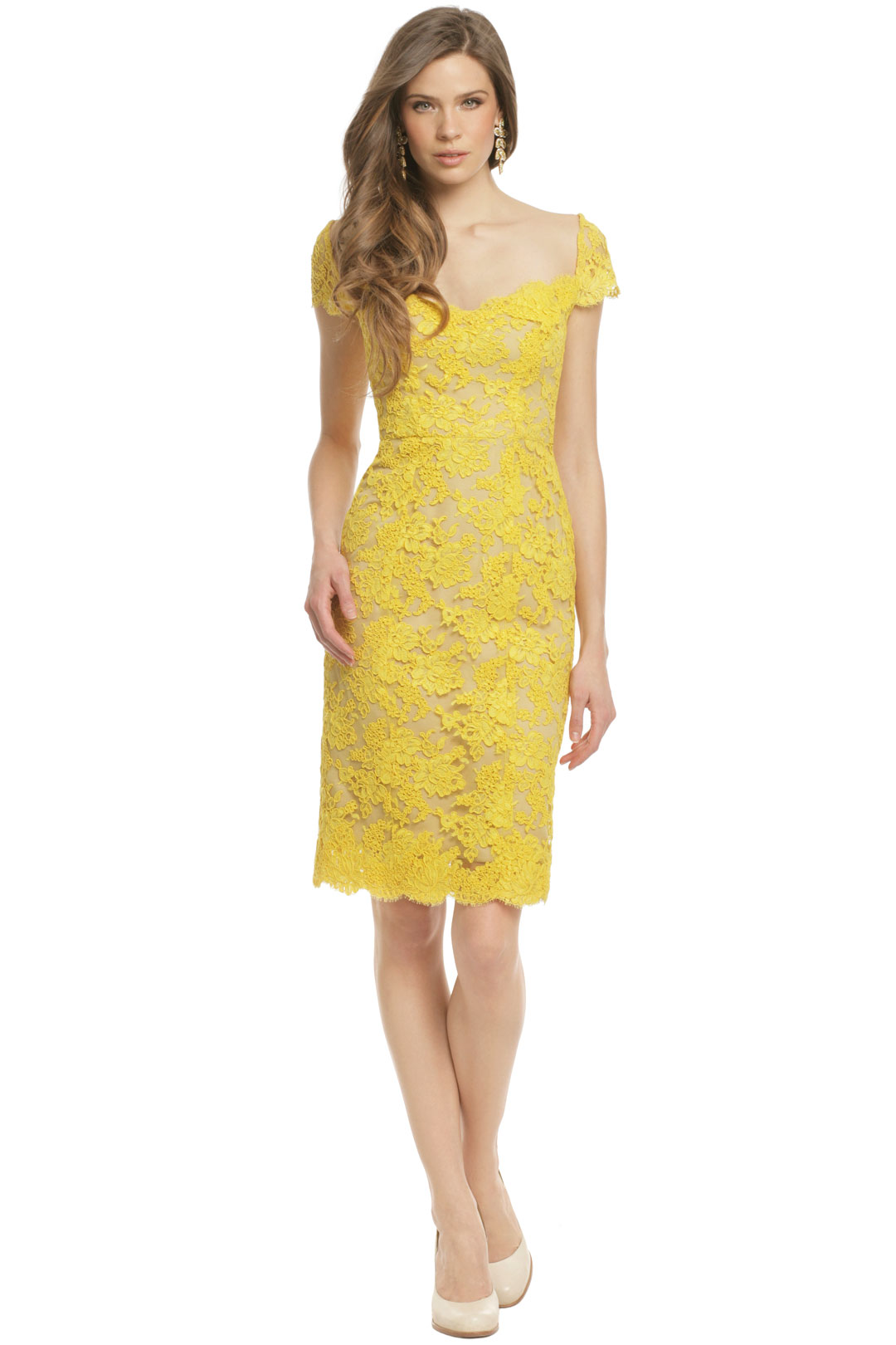 Canary Bennet Dress by Reem Acra at $300 | Rent The Runway