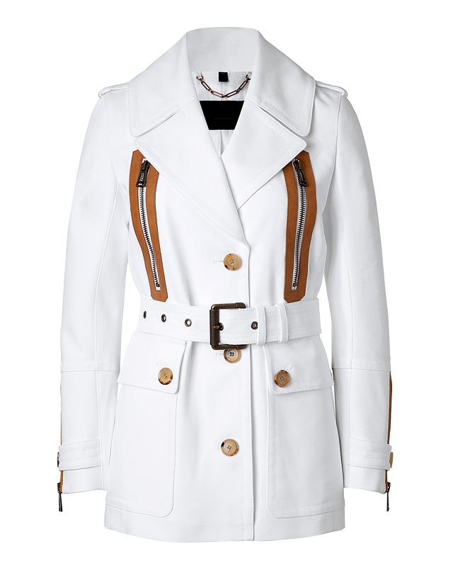 WhiteCottonNewHavenBeltedJacketfromBELSTAFF | Luxury fashion online | STYLEBOP.com
