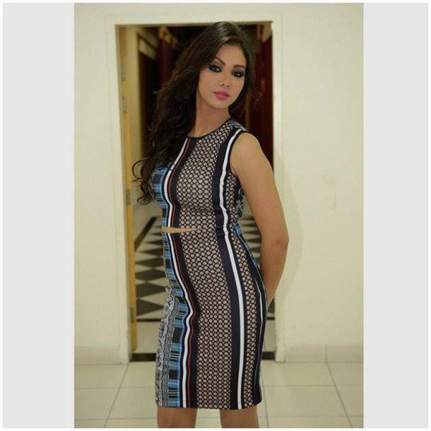 dress cut patterned dress