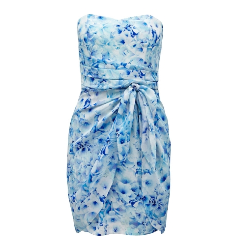 Justine strapless wrap dress - Forever New