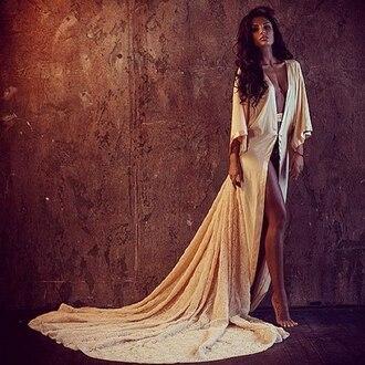 dress maxi dress robe kaftan white kaftan long train dress nude dress
