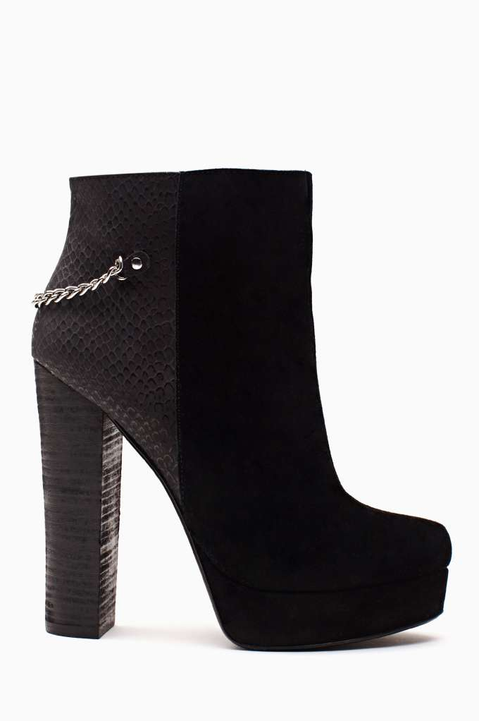 Shoe Cult Vicious Chained Bootie in  Designed By Us Shoe Cult at Nasty Gal