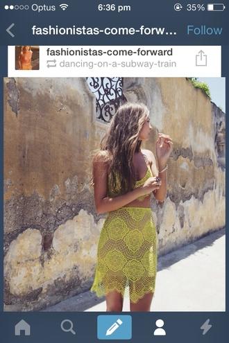 skirt yellow lace yellow lace yellow skirt lace skirt blouse shirt belt dress