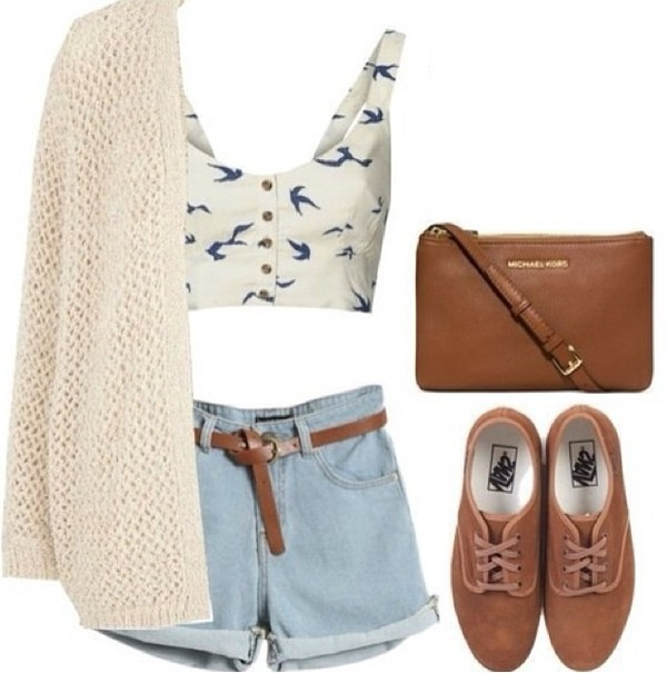 shirt trendy vintage hipster cute shoes cardigan shorts