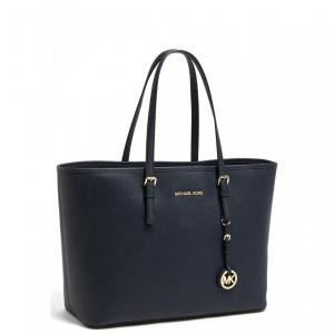 MICHAEL Michael Kors Navy Saffiano Leather Tote - Sale