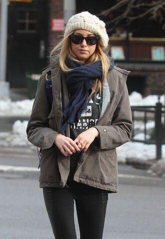 jacket whitney port scarf