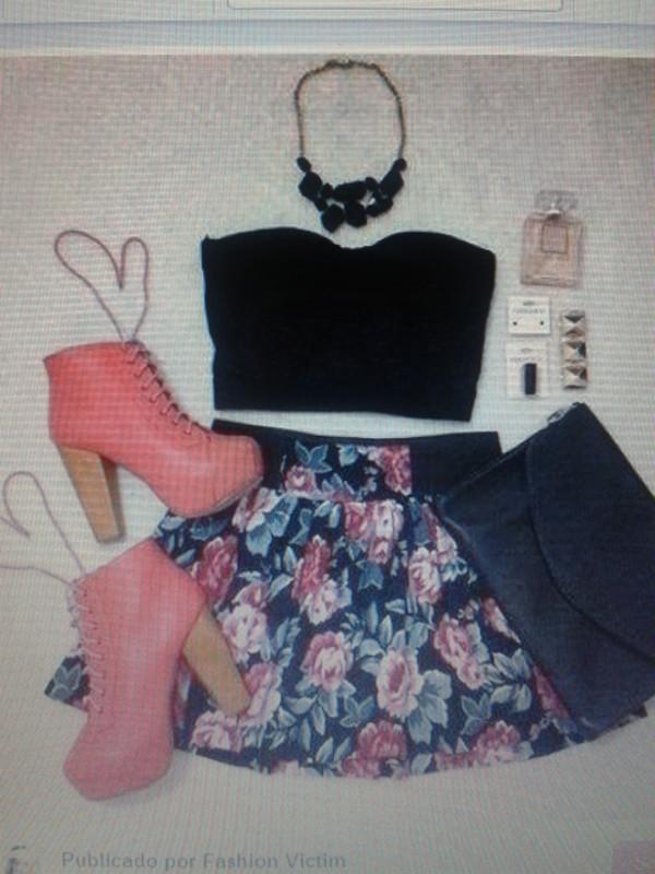 dress shoes skirt shirt