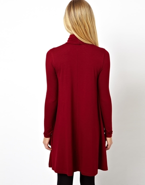 ASOS | ASOS Swing Dress With Polo Neck And Long Sleeves at ASOS