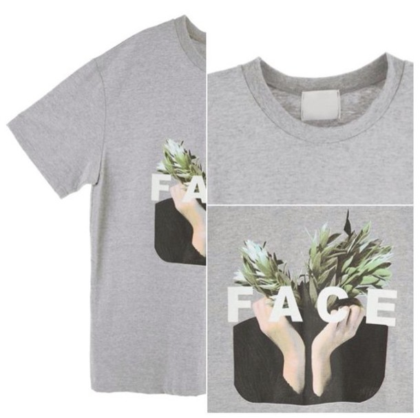 shirt grey sweater print wordsbrand