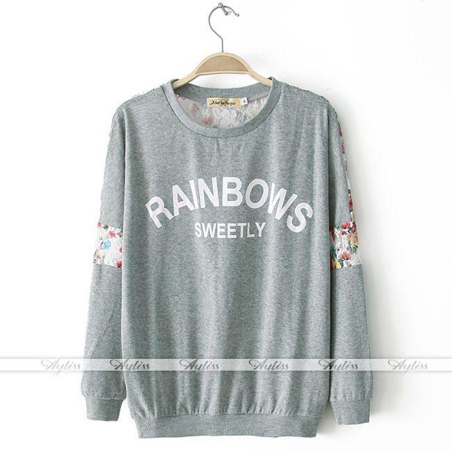 Korean Fashion Womens Floral Lace Colorblock Casual Shirt Blouse Tops | eBay