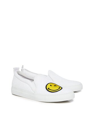 shoes smiley flats white sneakers joshua sanders ifchic spring winking