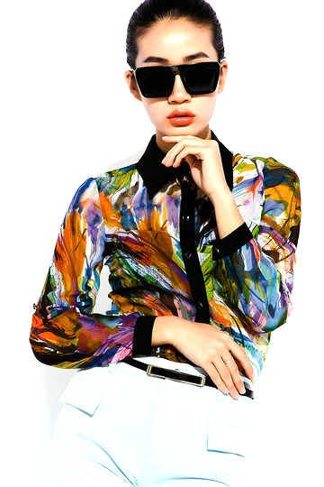 Spring Floral Long Sleeves Shirt - Shirts / Blouses- US$ 90.99 - PERSUNMALL