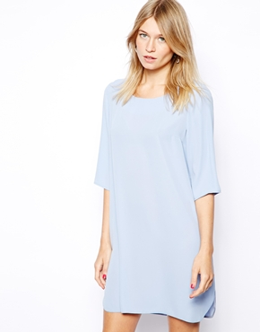 Love | Love Shift Dress with Dip Hem at ASOS