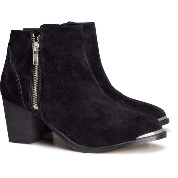 H&M Suede boots - Polyvore