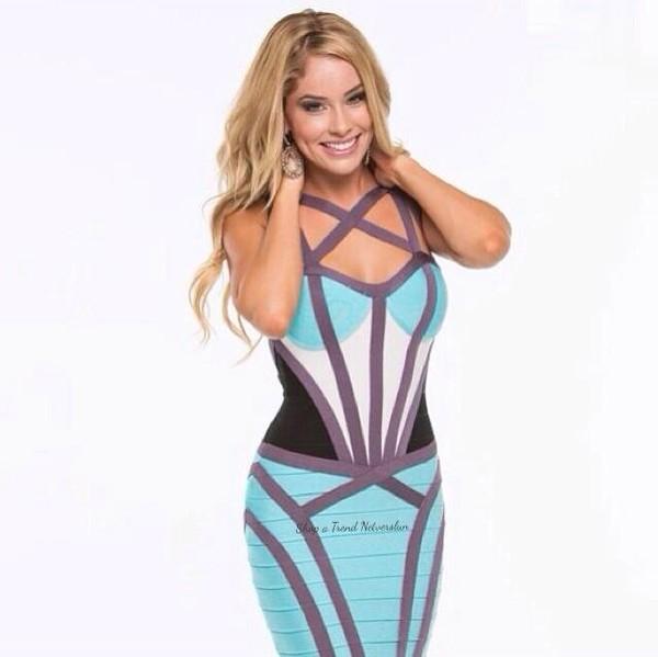 dress blue strappy