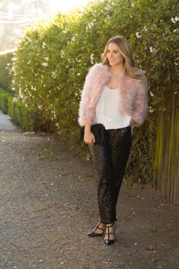 gal meets glam coat tank top pants shoes bag