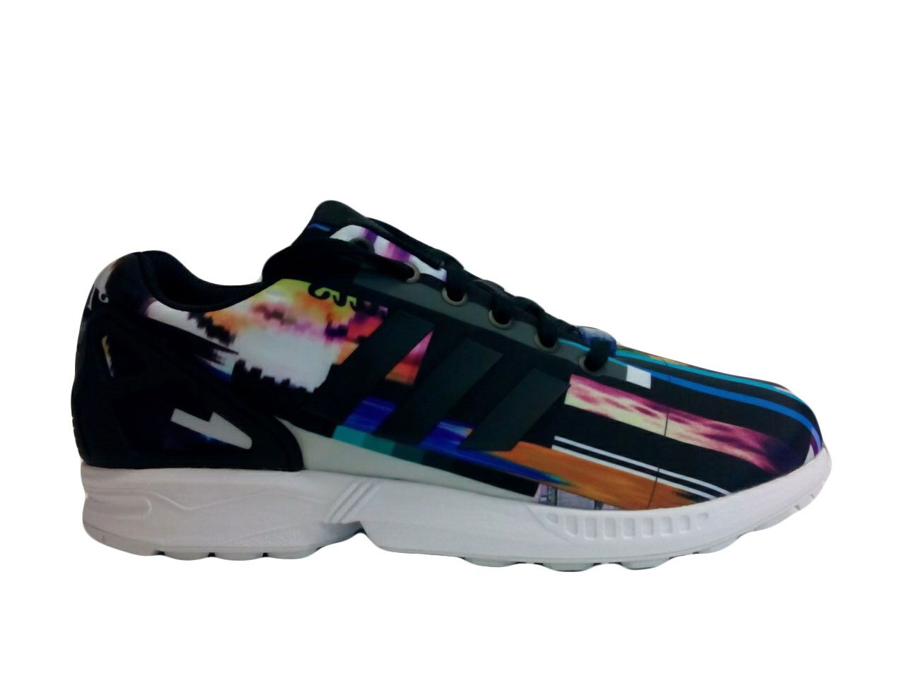 Adidas Men's ZX Flux New Limited Ed Graphics Sneakers M19844 Digital Multi Color | eBay