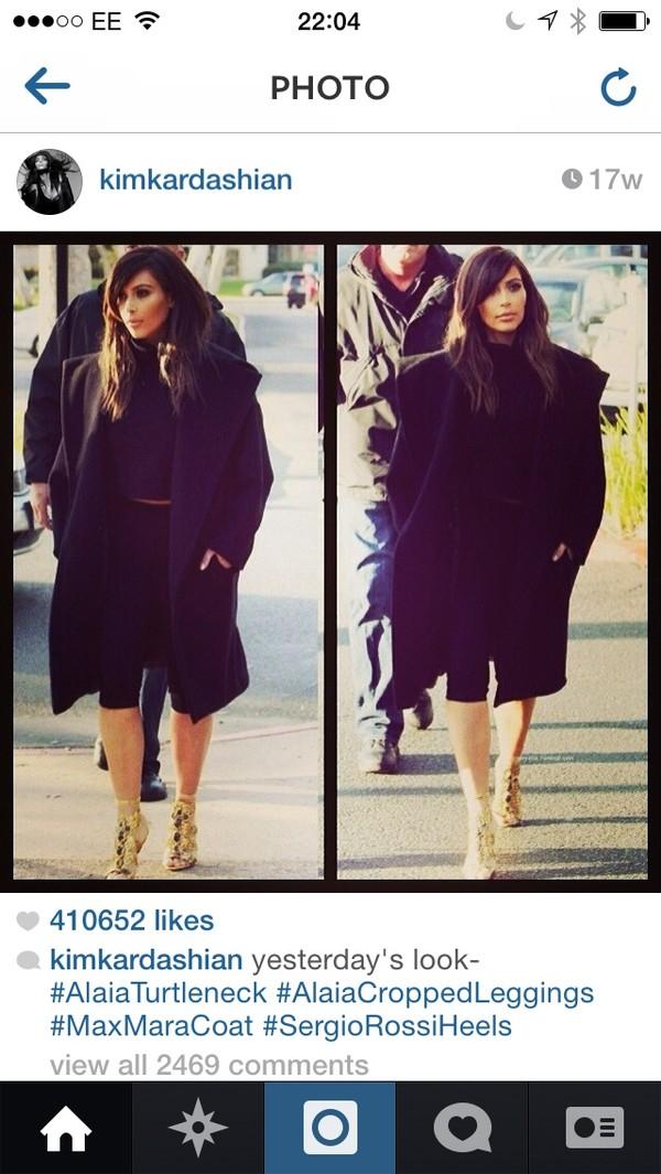 coat kim kardashian black coat