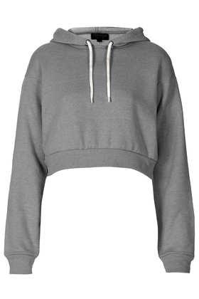 Crop Pull On Hoody - Tops  - Clothing  - Topshop