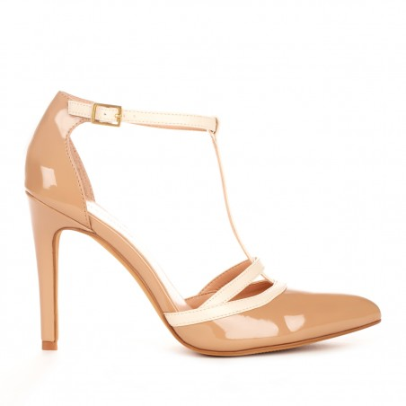 Sole Society - T-strap heels - Nicola - Adobe Ecru