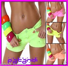 Sexy Women'S Denim Distressed LOW Rise Hipster Neon Shorts 6 8 10 12 14   eBay