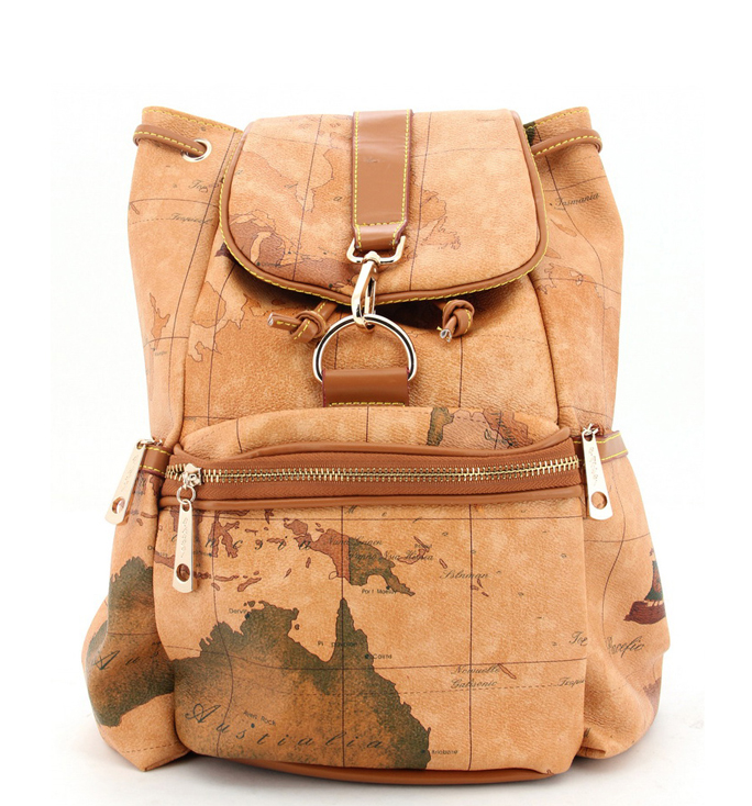 Map Design Backpack - leatherbagscollection.com