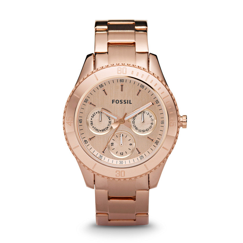 Fossil Stella Chronograph Stainless Steel Watch - Rose ES2859 | FOSSIL®