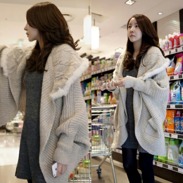 jacket i4out clothes clothes fashion cardigan fur cardigan swag girly coat lookbook look sweater