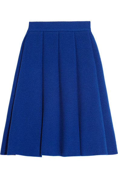 J.W.Anderson|Pleated boiled wool-blend skirt|NET-A-PORTER.COM