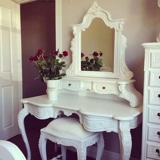 nail polish makeup table home decor jewels make-up vanity mirror vanity decor home accessory white