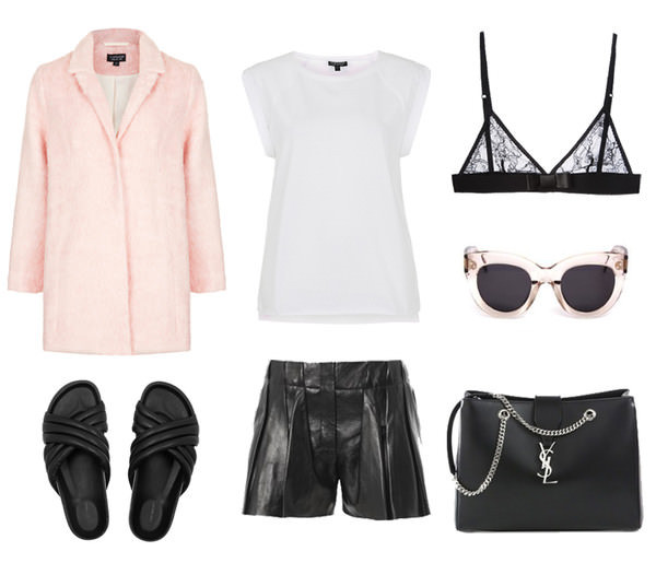 oracle fox coat t-shirt sunglasses bag shorts