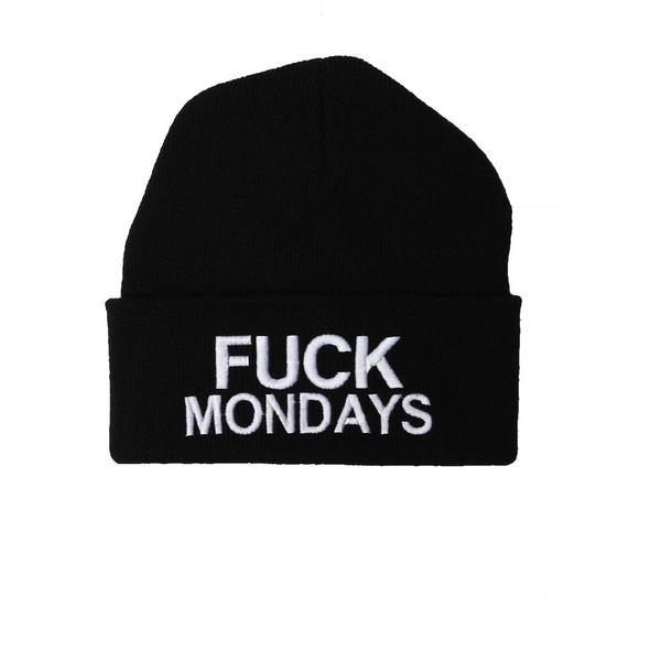 Fuck Mondays Beanie - Polyvore