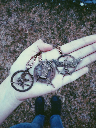 jewels necklace mockingjay mockingjay bird