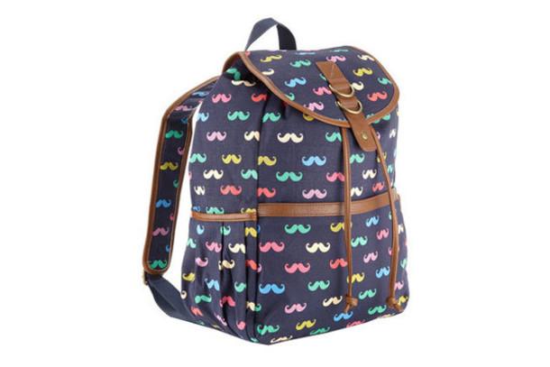 bag moustache backpack