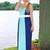 Blue Color Block Criss Cross Strap Back Maxi Dress | uoionline.com: Women's Clothing Boutique