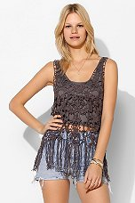 Staring At Stars Crochet Fringe Tank Top - Urban Outfitters