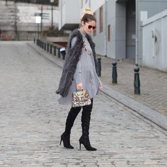 from brussels with love blogger jacket shirt dress shoes bag