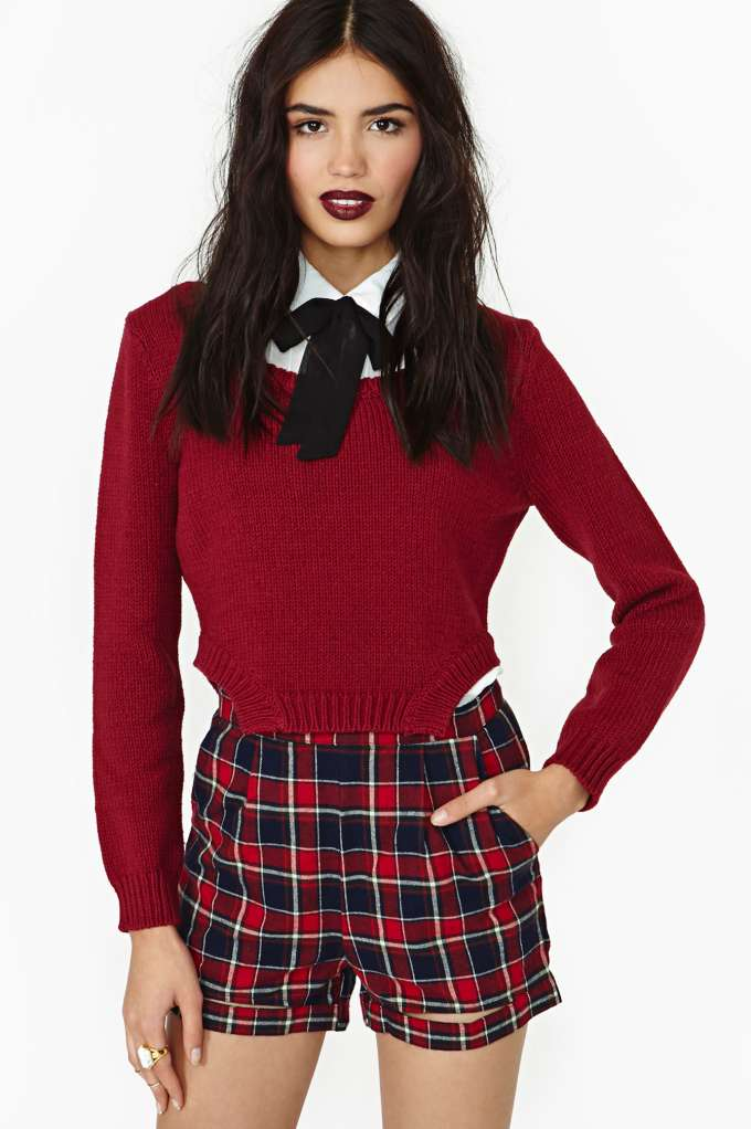 Detention Plaid Shorts  in  Clothes Bottoms at Nasty Gal