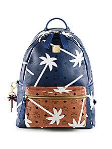 MCM - Bicolor Palmtree-Printed Coated Canvas Backpack - Saks Fifth Avenue Mobile