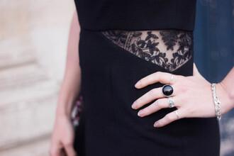 mahayanna blogger cut-out dress lace dress black dress