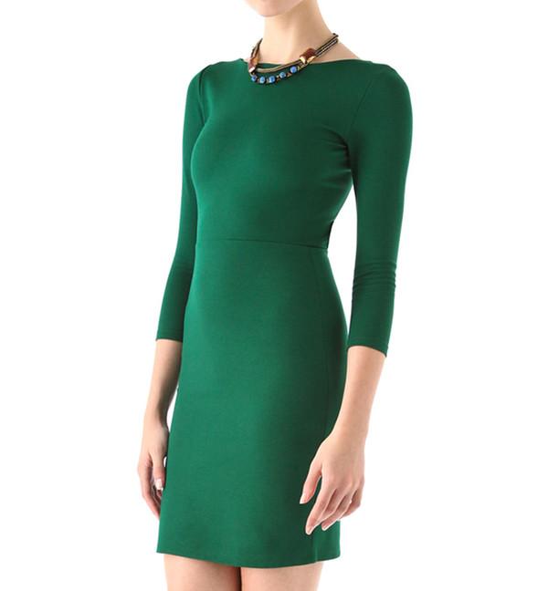 dress fashion style green dress