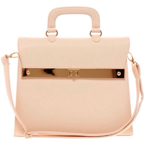 bag nude gold details messenger bag