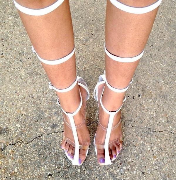 shoes high heels heels white sandals designer size 7.5 or 8 womens fashionista shopaholic blogger fashion bloggers chic summer outfits spring shoes sandals gladiators gladiators jeffrey campbell sold out boots lace up boots thigh boots