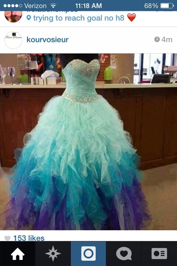dress blue purple sweetheart prom dress
