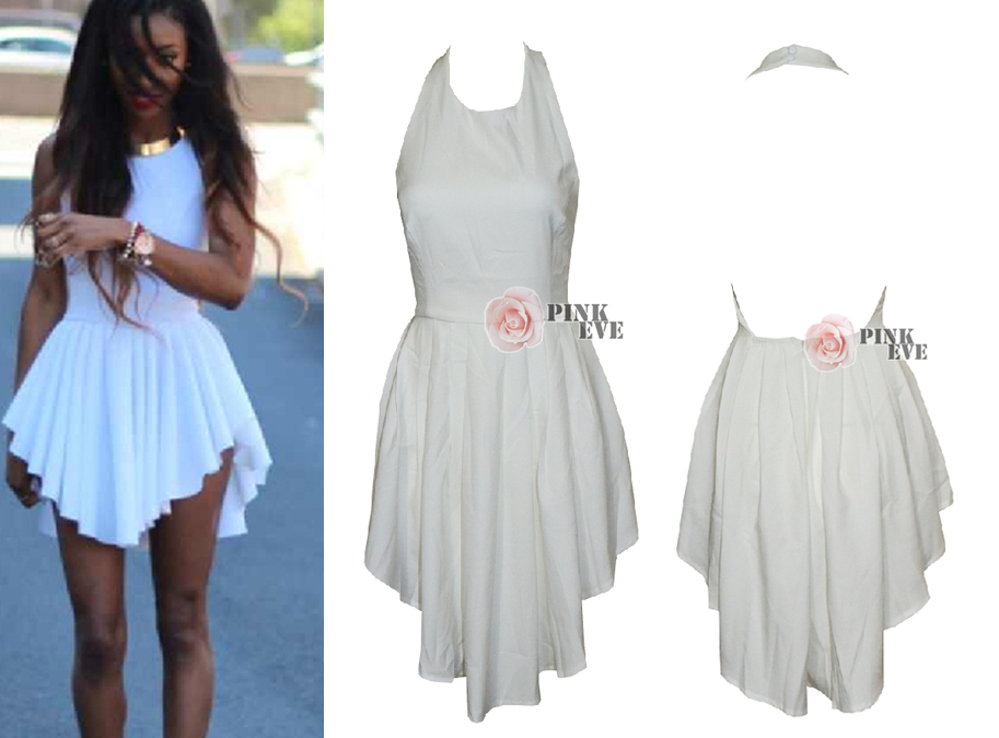 2014 Free shipping  Irregular fashion halter dress. Party Dress TB 6218-in Apparel & Accessories on Aliexpress.com